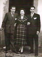Photo: Ernesto, Candida y Leoncio.