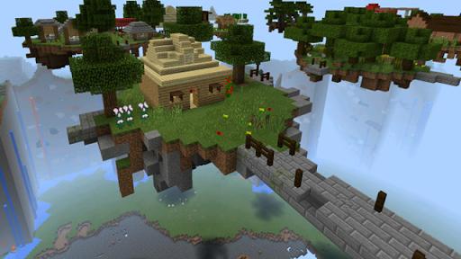雲探索地圖的Minecraft