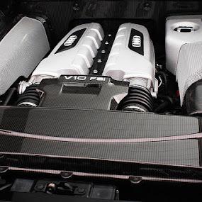 V10. by Denis Klicic - Transportation Automobiles ( audi, supercars, engine, carbon, r8, tfsi, v10 )