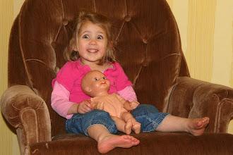 "Photo: Emmy and her ""Baby Beyeler"" who she recently renamed ""ObiWanKinobi-o"""