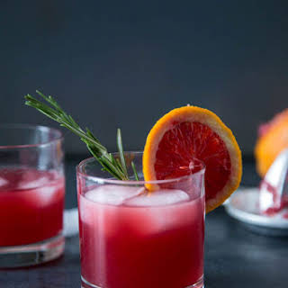 Blood Orange Rosemary Cocktail.