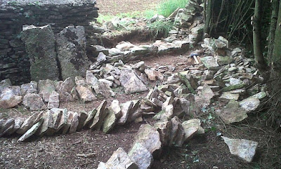 Dry stone wall site layout will assist with quick dry stone wall rebuilds
