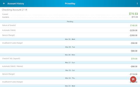 PrimeWay Federal Credit Union screenshot 6