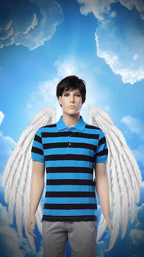 天使の羽フォトモンタージュ