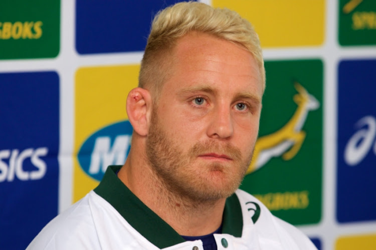 Vincent Koch during the South African national mens rugby team press conference at Garden Court Kings Beach Hotel on September 25, 2018 in Port Elizabeth, South Africa.