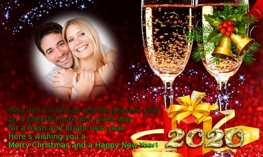 2020 Christmas New Year Greetings Photo Frames Apk 1