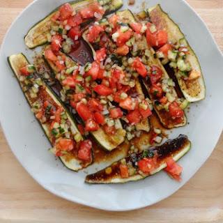 Zucchini Carpaccio with Cucumber, Tomato and Onion Recipe
