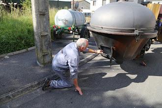 """Photo: Point de pollution à l'association du """"Fardier de Cugnot"""", les cendres de cigarette sont mis dans le foyer ..."""