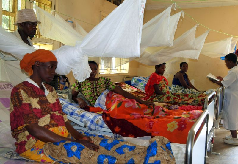 Photo: The health centre includes a ward where women in their final stages of pregnancy can remain comfortably and avoid arduous travel once labour begins.