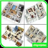 3D House Floor Plans Design