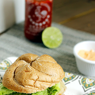 Southwestern Turkey Burger with a Sriracha Lime Spread