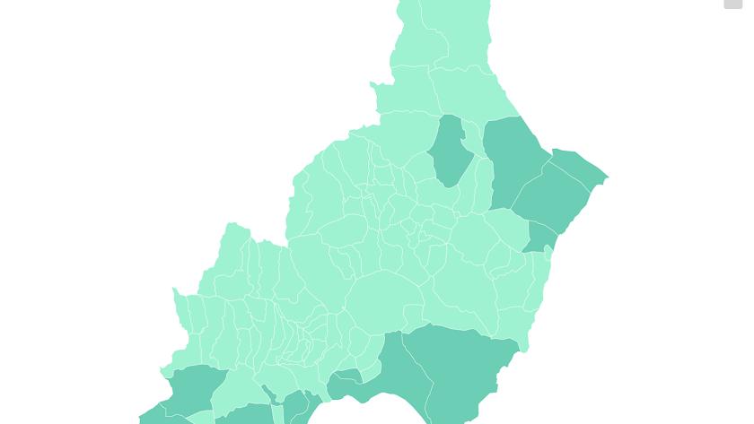Así queda el mapa provincial.