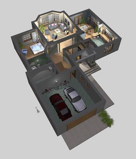 APS 121 - Rzut parteru 3D