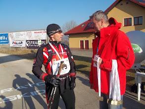Zdjęcie: Paweł Kulig biegacz na mecie Rajdu NW !