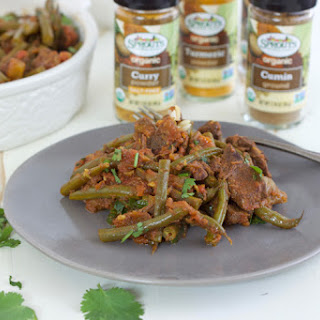 Spicy Grass-fed Beef Curry with Green Beans.