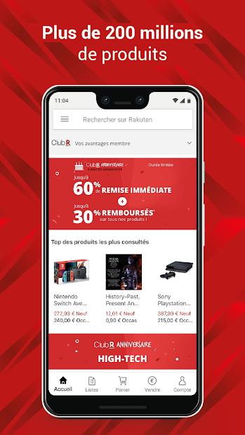 Rakuten : Shopping en ligne au meilleur prix Android App Screenshot