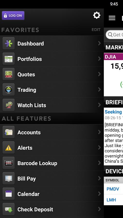 E*TRADE Mobile- screenshot