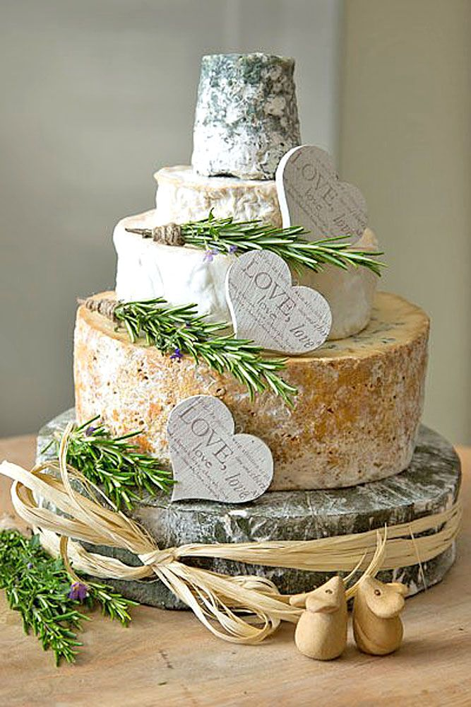 Alternative Cheese Wedding Cake