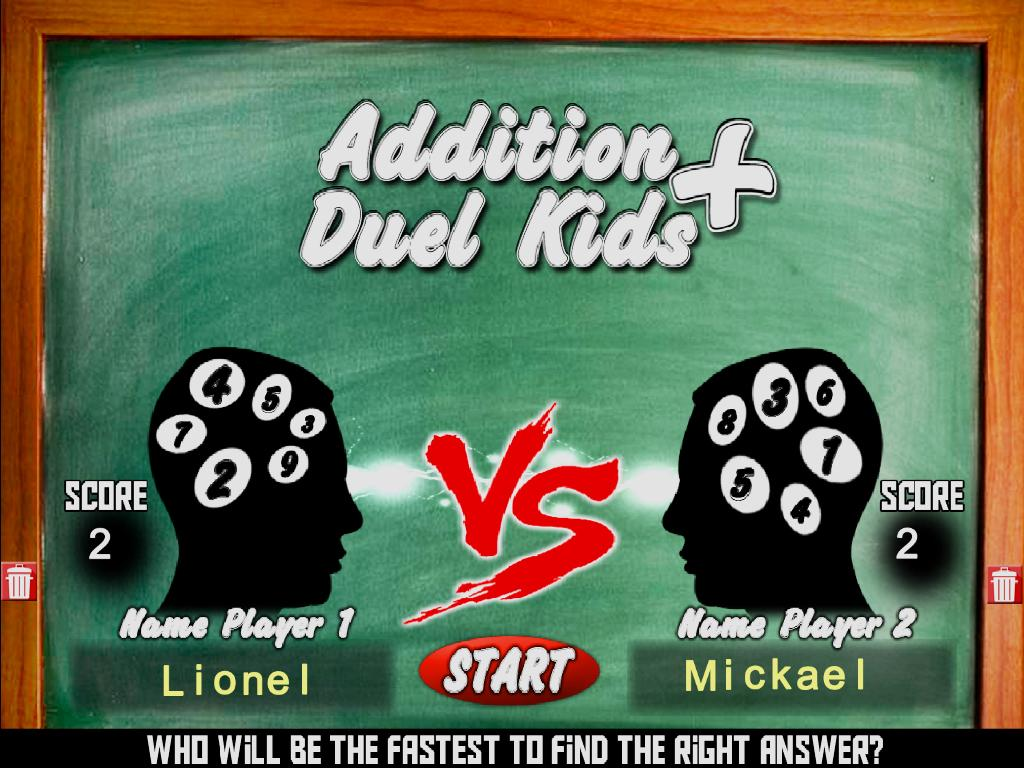 Addition Duel Kids- screenshot