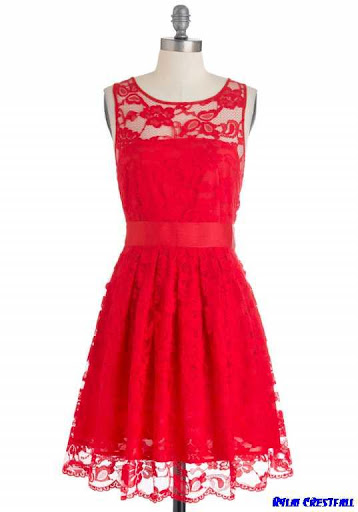 红色连衣裙的设计理念