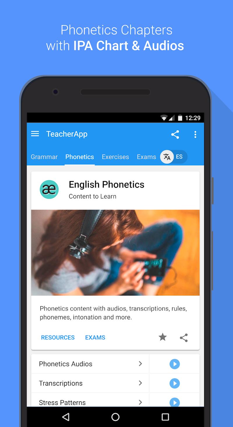 English Grammar & Phonetics Screenshot 4