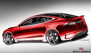 Photo: The very first design renderings of the Saleen Tesla Model. These were first unveiled at an event with media on 04/12/14 in Los Angeles, CA