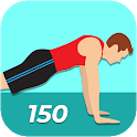 150 Pushups Workout Challenge icon