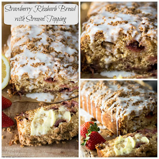 Strawberry Rhubarb Bread with Streusel Topping