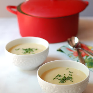 Chilled Cauliflower Soup with Truffle Oil