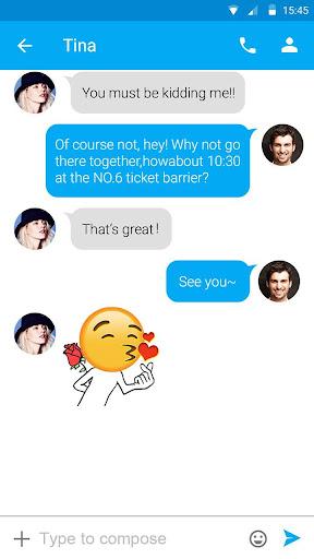 FREE-GO SMS FUNNYEMOJI STICKER|玩個人化App免費|玩APPs
