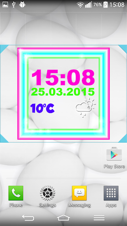 Neon Digital Weather Clock 2.0 screenshot 1039297