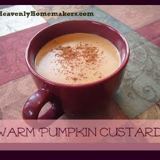 Warm Pumpkin Custard Drink.