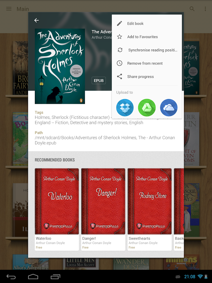 eReader Prestigio: Book Reader- screenshot