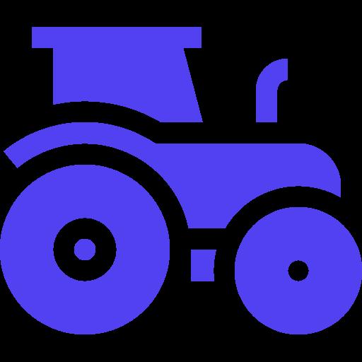 Tractor Icon Purple