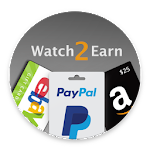 Watch2Earn - Free Paypal Cash & Gift Cards Icon