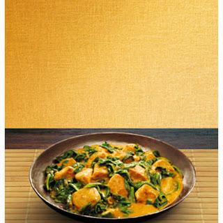 Rode Curry Met Spinazie