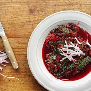Lentil and Beet Soup