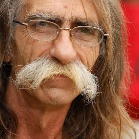 Carny by Bill  Brokaw - People Portraits of Men ( hippie, men, brokaw, mustache, portrait )