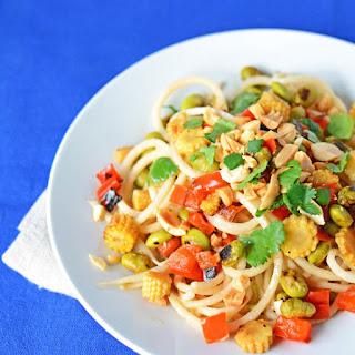 Peanut and Daikon Radish Noodle Salad