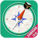 Qibla Compass - Prayer Times, Azan & Ramadan 2018 Icon