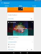 Photo: The visualization in Chromecast app when casting to a group