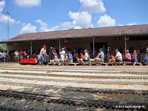 Photo: Engineer Bob Barnett checking his train before departing.     HALS Public Run Day 2014-0419 DH3