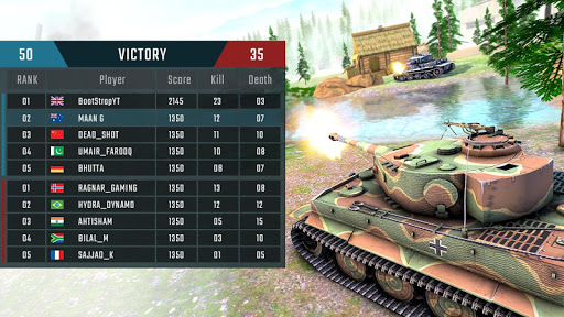 Battleship of Tanks - Tank War Game  screenshots 2