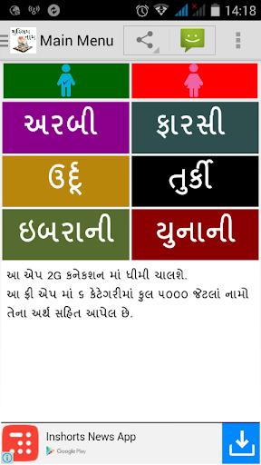 Muslim Name Gujarati