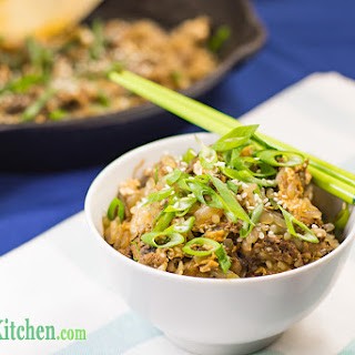 Low Carb Fried Rice with Asian Shredded Beef.