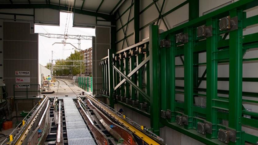 Cambiador de ancho similar al que se construirá en Granada