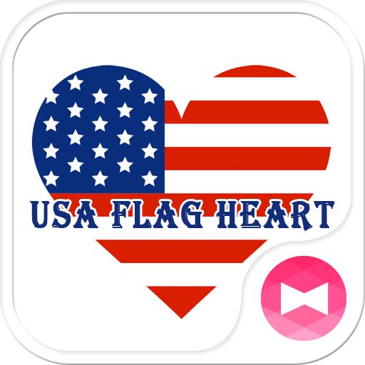 个人化の壁纸·图标 美国之心 LOGO-HotApp4Game