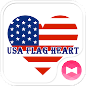 USA Flag Heart +HOME Theme