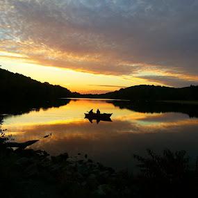 Fishing by Tete Clayton - Landscapes Sunsets & Sunrises