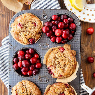 Cranberry Coffee Cake Muffins